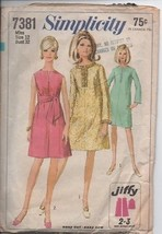 Simplicity 7381 - Miss Size 12 Bust 32 - Jeff 2 or 3 Main Patterns Pieces.  - $3.47