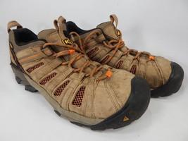 Keen Flint Low Top Size US 9.5 2E WIDE EU 42.5 Men's Steel Toe Work Shoes Brown