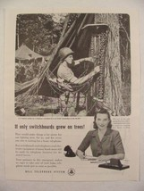 1945 Bell Telephone Ad U.S. Marine Setting Up Switchboard In Pacific Print Ad - $9.99