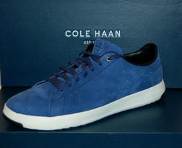 Cole Haan Men's Blue White Sole Reinstorm Nubuc Lace Fashion Sneakers Sz 12 - $128.65