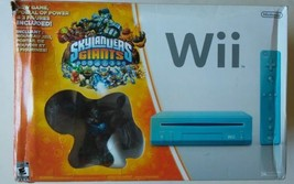 Nintendo Wii Skylanders Giants Bundle Limited Edition Blue Wii Console C... - $140.22