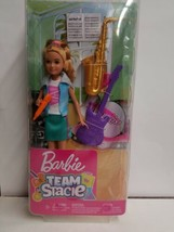 Barbie-Team Stacie-Music Playset with Girl Doll & Instruments. New in box. - $32.66