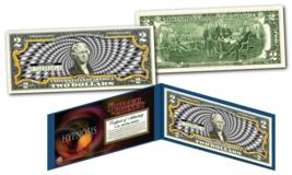 HYPNOSIS Power of Money 3-D Effect B/W Genuine Legal Tender U.S. $2 Bill... - $13.81