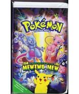 Pokemon Mewtwo vs Mew (1998) VINTAGE VHS Cassette Clamshell - $34.64