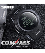 SKMEI Outdoor Sports Compass Watch Hiking Men Digital LED Electronic Wri... - $17.99