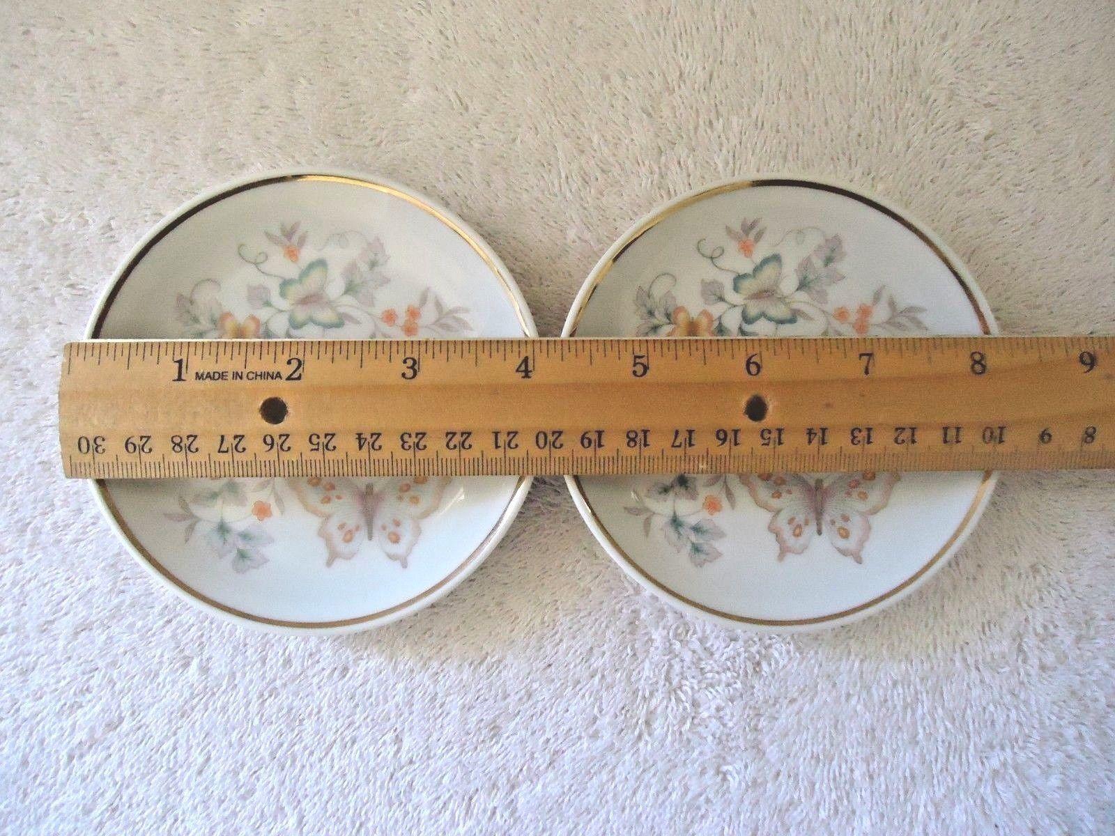 Vintage Set Of 2 1979 Avon Fine Porcelain 22 K Gold Trim Collector Plates  image 4