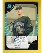 CHAZ ROE AUTOGRAPHED CARD 2006 BOWMAN FIRST YEAR COLORADO ROCKIES - $4.48