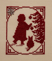 Christmas Silhouette Girl Ornament with charm cross stitch chart Handblessings - $5.00