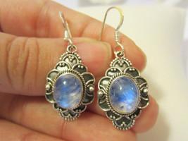 Rainbow Moonstone 925 sterling silver earrings - $28.00