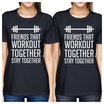 Friends That Workout Together BFF Matching Navy Shirts - $30.99+