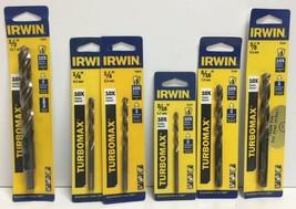 """(New) Irwin Turbomax 1/2"""", 1/4"""", 3/8"""", 3/16"""", 5/16"""" Drill Bit Set - $34.64"""
