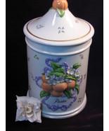 Vintage Le Cordon Bleu Franklin Mint Peach Patter Pastal Canister - $139.99