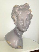 "Antique German Art Deco ceramic woman bust head 16"" - $180.00"
