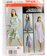 Simplicity 8048 Womens Project Runway Dress Sewing Pattern Size 14-22  - $13.00