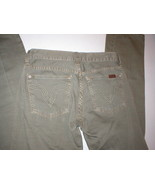 New 24 Womens 7 for all mankind Army green pants 27 X 32 Dark Forest gre... - $29.99
