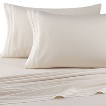 Vera Wang SCULPTED FLORAL 4P Queen Sheet Set Ivory $525 - $189.95