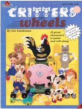 Wooden Critters on Wheels Decorative Painting Project Craft Book - $10.95