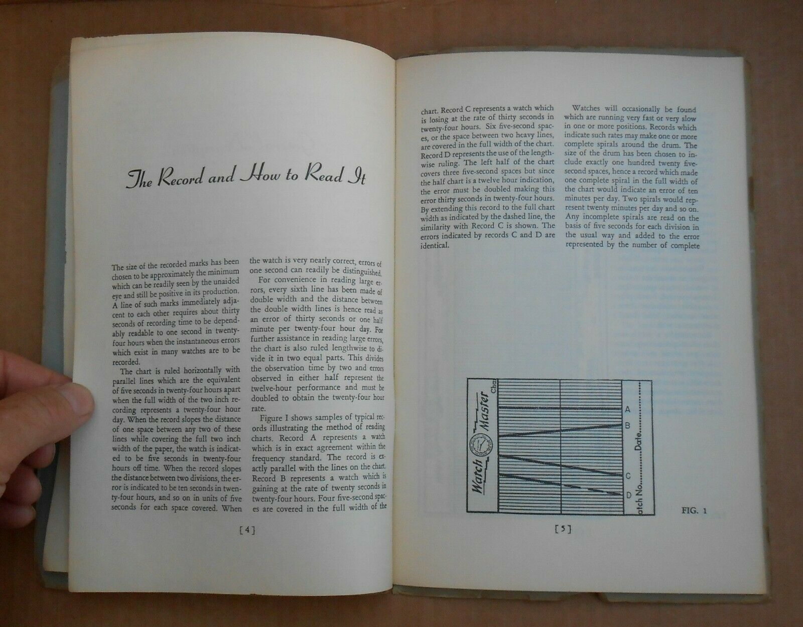Vintage 1948 Timepiece Watch Master Hand Book WatchMaster Watch-Rate Recorder image 4