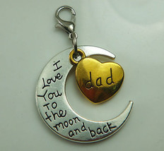 Crescent Moon <3 Dad Necklace >We Combine Shipping< (2395) - $3.71