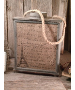 French Country Wood & Jute Lantern- by A&B Home - Retail- $65 - $29.30