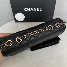 Authentic Chanel Classic Flap Caviar Quilted Large Filigree Flap Shoulder Bag image 8