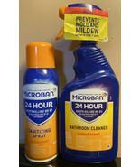 Micro Ban 24 Hour Sani Spray 12.5 Oz & Bathroom Cleaner, 22 Oz, Citrus S... - $29.68