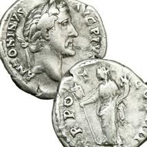 ANTONINUS PIUS Liberalitas Military Standard Authentic Ancient Roman Emp... - $175.50