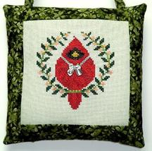Spring Cardinal with charm cross stitch chart Handblessings - $8.50