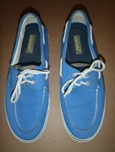 Sperry Top-Sider Bright Blue Canvas 2 Eyelet Boat Shoe Mens Size 10.5M  - $37.39