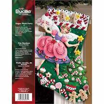 Bucilla Sugar Plum Fairy Christmas Stocking Felt Applique Kit, 85431 18-... - $24.80