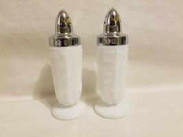 Vintage Westmoreland Paneled Grape Milk Glass Salt And Pepper Shakers EXCELLENT - $16.82