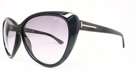 NEW Tom Ford Malin Sunglasses Shiny Black Frame Gradient Lens TF230 01B 61 M67 - $106.65