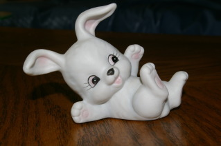 Homco White Bunny 1458 Rabbit Home Interiors