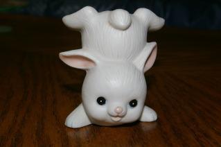 Homco White Bunny 1454 Rabbit Home Interiors