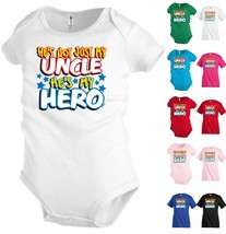 Uncle My Hero Funny Kids T shirt Youth tee Baby Toddler bodysuit KP112 - $13.99