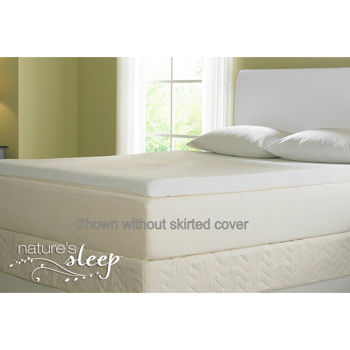 Natures Sleep 2.5-inch Biopolymer Visco Mattress Topper, New, Memory Foam