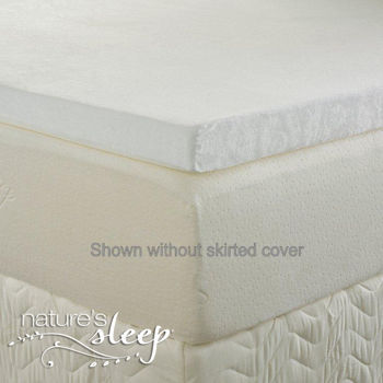 Natures Sleep 2.5-inch Biopolymer Visco Mattress Topper, New, Memory Foam