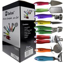 8 Pieces Kitchen Gadget Tools Set by Chefcoo™ - Stainless-Steel Utensils... - $49.95