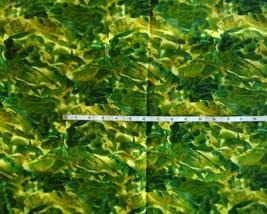 fabric Assorted Colors of Greens Looks like sea of fish 3/4 yard - $4.94