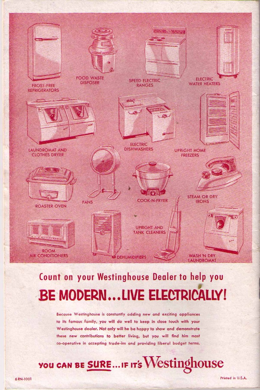 Vintage Westinghouse Speed Electric Range Instruction & Recipe Book - 1956