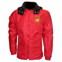 USMC Emblem Two Tone Red/Black Fleece Lined Reversible Jacket - $64.85+