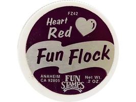 Stampendous Fun Flock Powder Heart Red #FZ42 image 2