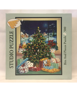 Bits and Pieces Studio Puzzle Through the Window 500 pc Christmas tree g... - $3.00