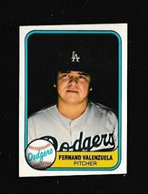 1981 Fleer # 140 Fernando Valenzuela ROOKIE Los Angeles Dodgers NEAR MINT - $2.75