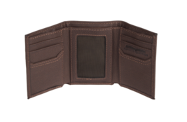 Levi's Men's Rfid Blocking Zipper Coin Credit Card ID Trifold Wallet Brown image 5