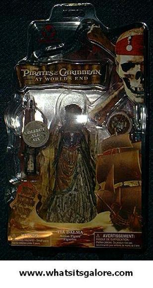 Pirates of the Caribbean TIA DALMA action figure + Disney store bag + Barbossa