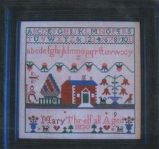 Mary Threlfall 1830 sampler cross stitch chart Samplers Revisited - $11.70