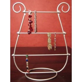 Table Top Jewelry Bracelet Holder Rack Stand Display Silver