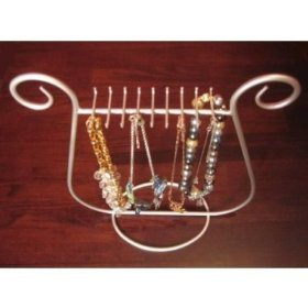 Necklace Jewelry Rack Holder Silver Table Top Stand Display