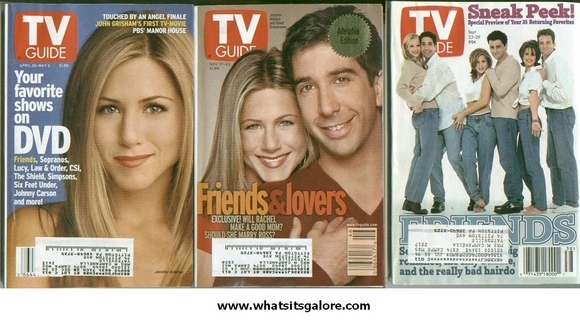 FRIENDS TV Guide magazines lot of 3
